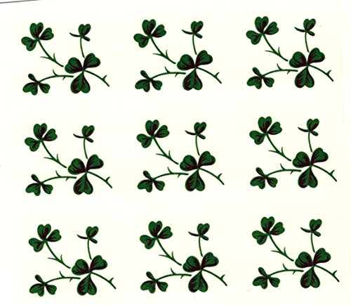 """398E Shamrock Square Waterslide Ceramic Decals By The Sheet (7/8"""" 99 pcs)"""