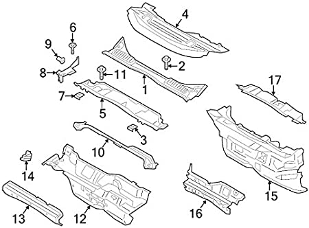 Ford Oem Cowl Panel Am5z5802010a Image 4