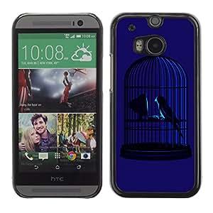 CaseLord Carcasa Funda Case - HTC One M8 / Twitter Bird Illustration /