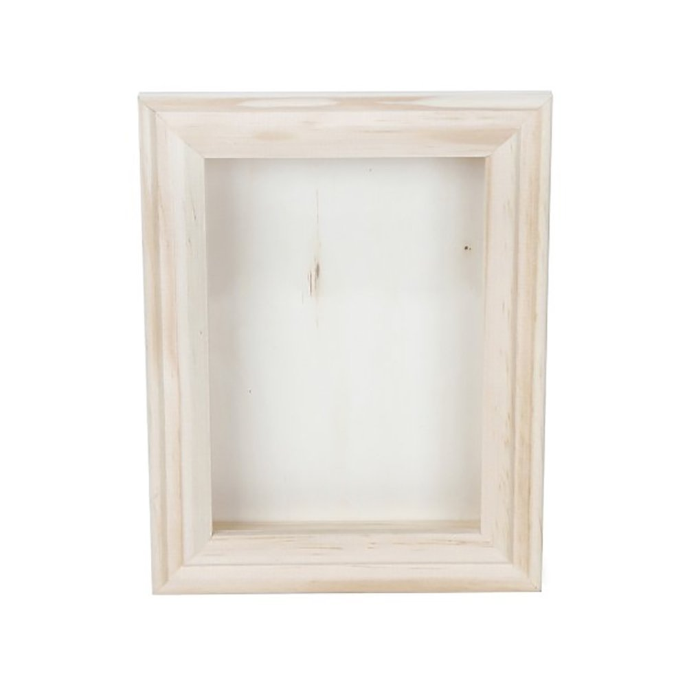 Darice 9184-76 Natural Wood Shadow Box Frame, 5-Inch