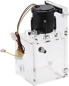 Bewinner PUB-ST1000 890ML Integrated PC Pump Tank, 12V DC 1200L/H pc Water Cooling Pump, Liquid Cooling Water Pump + Acrylic PC Pump Tank
