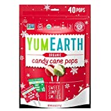 Christmas Yum Earth Organic Candy Cane Pops- 40ct