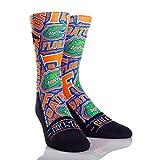 NCAA Florida Gators Logo Sketch University Custom Athletic Crew Socks, Small/Medium, Blue