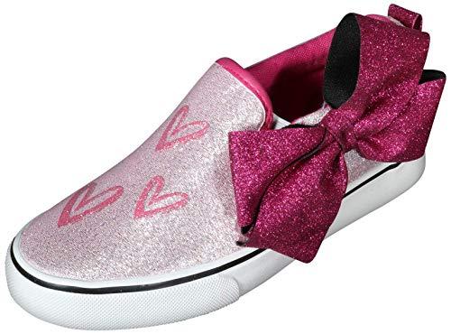 (JoJo Siwa Girls Signature Bow Slip on Sneaker, White w/Heart, 3 M US Big Kid')