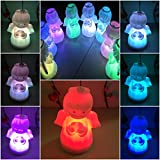 1 Pcs Awe-inspiring Modern LED Angel Shape Nightlight Christmas Doll Toy Colorful Lamp 7 Multicolor Gift Body Color White