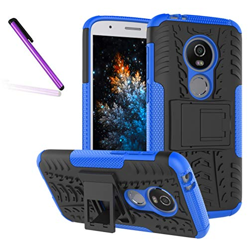 Tyre Pattern - Moto E5 Play Case, Tyre Pattern Design Heavy Duty Tough Armor Extreme Protection Case Kickstand Shock Absorbing Detachable 2 in 1 Case Cover Motorola Moto E5 Play (2018). Hyun Blue