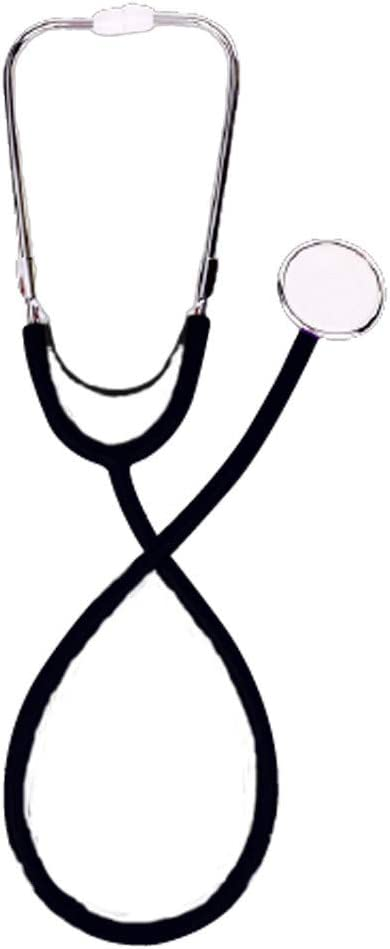 Mobiclinic, Fonendoscopio doble campana, Marca Española, Aluminio, Ligero, Alta precisión, Para niños y adultos, Negro