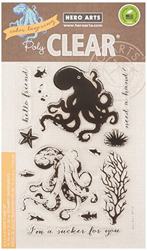 (Hero Arts CM104 Clear Stamps, Color Layering Octopus)