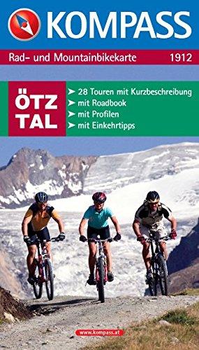 Ötztal: Rad- und Mountainbikekarte Ötztal mit Roadbook und Einkehrtipps