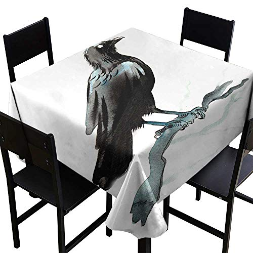 OUTDRART Tablecloth Square Black Raven,W50 x L50 for Spring