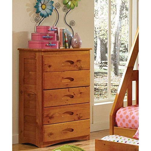 Cambridge 5-Drawer in Honey Children's (Dresser Honey)