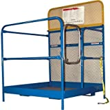 Vestil WP-4848 Steel Work Platform, 1000 lb. Capacity, 36'' x 36'', Powder Coat Blue, not for use in California