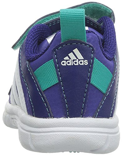 I Cf M25492 Fluid Scarpe Strappi Violet 20 3 Pelle Bambina Adidas Sta Viola IfqZR