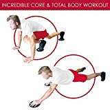 HomeGym-4U-Set-of-2-Gliding-Discs-Dual-Sided-Abdominal-Sliders-for-Carpet-or-Hardwood-Floor-Core-Trainer-Fitness-Equipment-for-Full-Body-Workout-Crossfit-Cardio-Training-Six-Pack-Ab