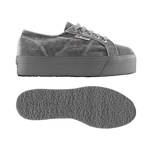 Collo Donna a 2790 Basso Sneaker Grey Superga velvetw RtIqwRY