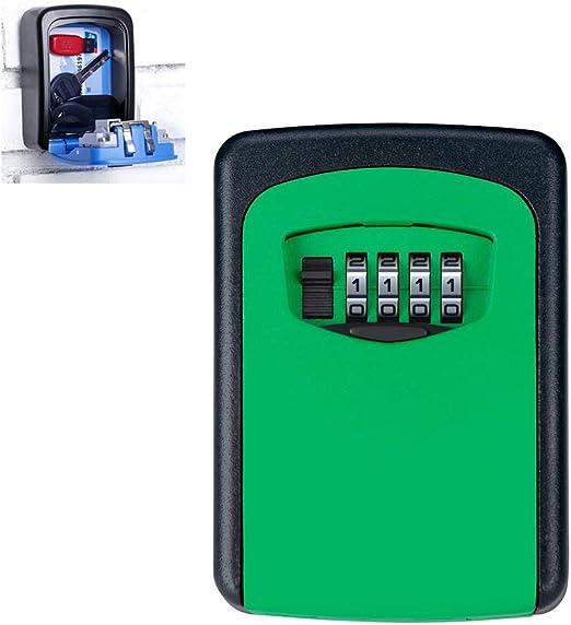 Caja Fuerte Pequena Pared con llave,Cajas de Organizador Secreto de Almacenamiento de llaves Ocultas Montadas en la pared con 4 dígitos Combinación Cerradura de ...