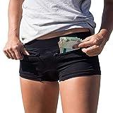 Clever Travel Companion Women's Underwear with Secret Pocket (Cotton), Black, Large