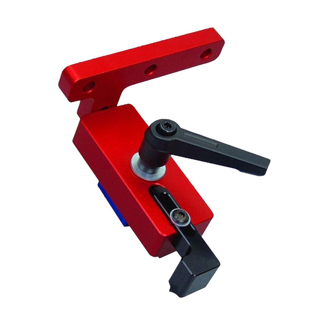 Fenteer Mitre Track Stop T-Slot T-Track Outil de Fixation T-fente Mitre Track Jig Serrage - Rouge 30 type