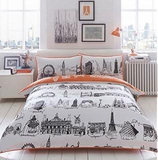 Ben de lisi home multicoloured printed world explorer bedding set ben de lisi home cream city scene bedding set double gumiabroncs Choice Image