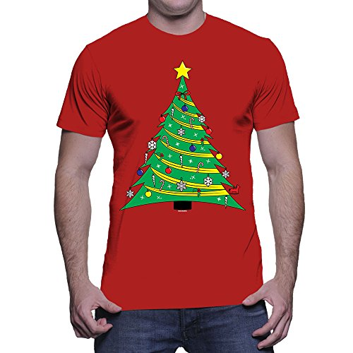 Mens Ornated Green Christmas T shirt