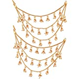 I Jewels Gold Plated Hair Chain Accessories For Earrings For Women (E2604Fl)