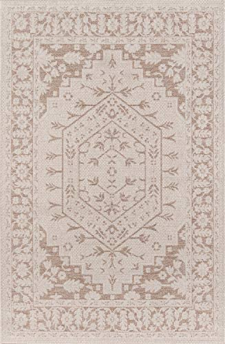 Erin Gates by Momeni Downeast Brunswick Area, Indoor Outdoot, Outdoor Rug, 5 X 7 6 , Beige