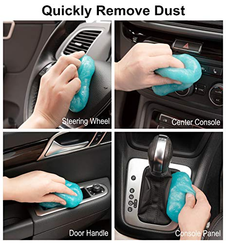 TICARVE Cleaning Gel for Car Detailing Tools Keyboard Cleaner Automotive Dust Air Vent Interior Detail Detailing Putty Universal Dust Cleaner for Auto Laptop Home Car Slime Cleaner