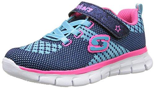 Skechers Synergy Lil Bubbly - Zapatillas para niñas, Color Azul (Marine/Fuchsia), Talla 22: Amazon.es: Zapatos y complementos