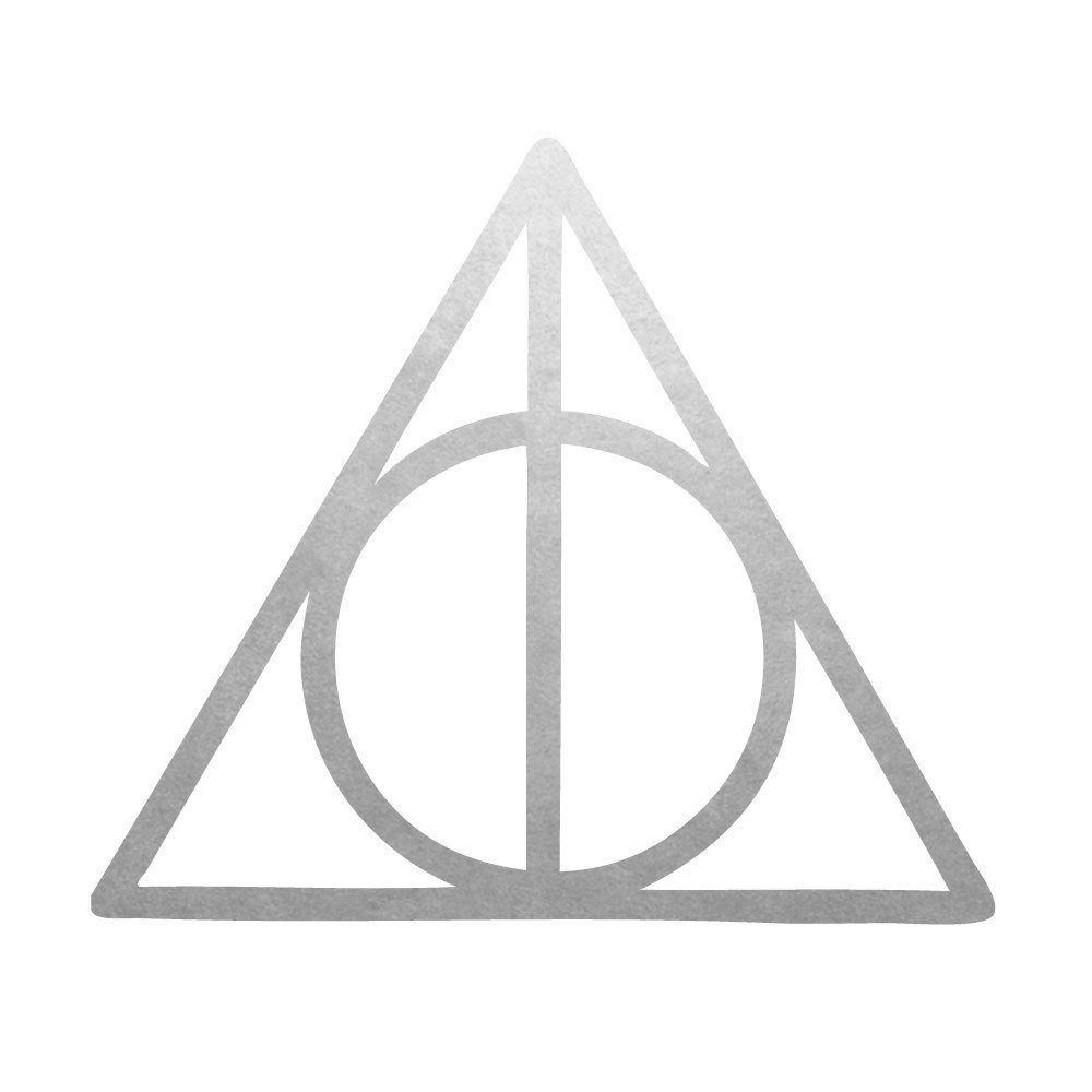 Deathly Hallows set of 25 premium waterproof metallic silver temporary jewelry foil Flash Tattoos - Party Favors, Party Supplies, Halloween, Festival