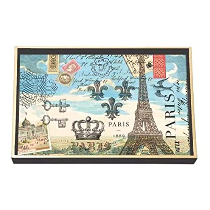 Michel Design Works Paris Vanity Decoupage - Bandeja de madera