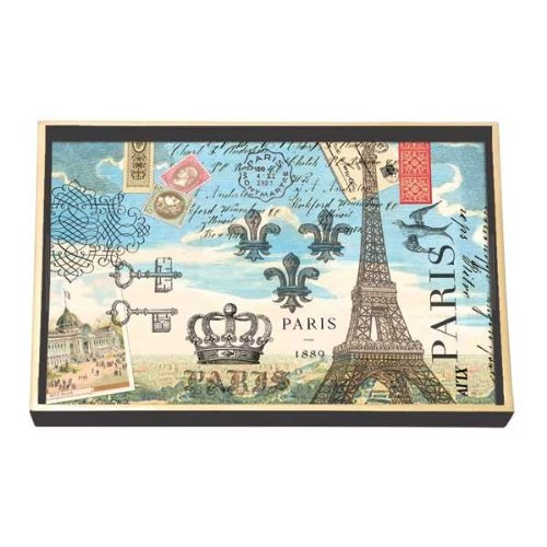Michel Design Works Paris Vanity Decoupage Wooden Tray