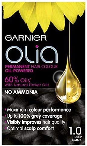 Juego de 3 tintes permanentes Garnier Olia, sin amoníaco para un aroma agradable, cobertura de hasta 100% gris, máximo rendimiento de color, 60% ...