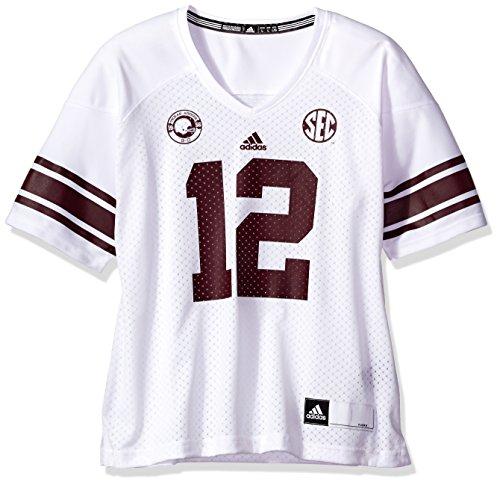 (adidas NCAA Texas A&M Aggies Women's Replica Football Jersey, White, Large)