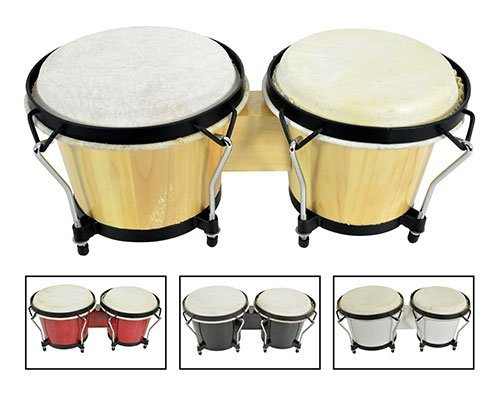 AVL55 - PAIR OF WHITE BONGOS 6.5
