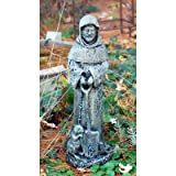 LadyBug St. Fiacre Outdoor Statue, Moss For Sale