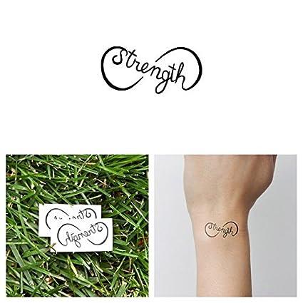 Tatuaje Temporal Tattify - Fuerza - Trabajo Pesado (Juego de 2 ...
