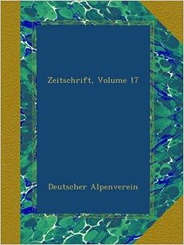 Book Zeitschrift, Volume 17