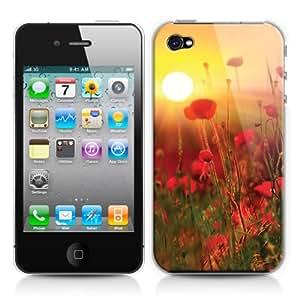 Caso duro para Apple iPhone 4/4S, diseño: Amapolas en los Países Bajos