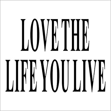 Papel pintado PVC,Letras decorativas love the life you live, Pegatina adhesiva para pared 33 x 25cm: Amazon.es: Hogar