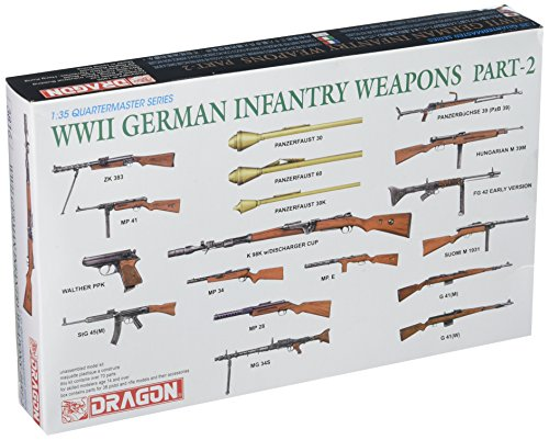 35 German Infantry Weapons - Dragon Models 1/35 WWII German Infantry Weapons Part 2 Dragon Model Kits
