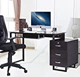 Merax-Home-and-Office-Computer-Writing-Desk-Table-Black