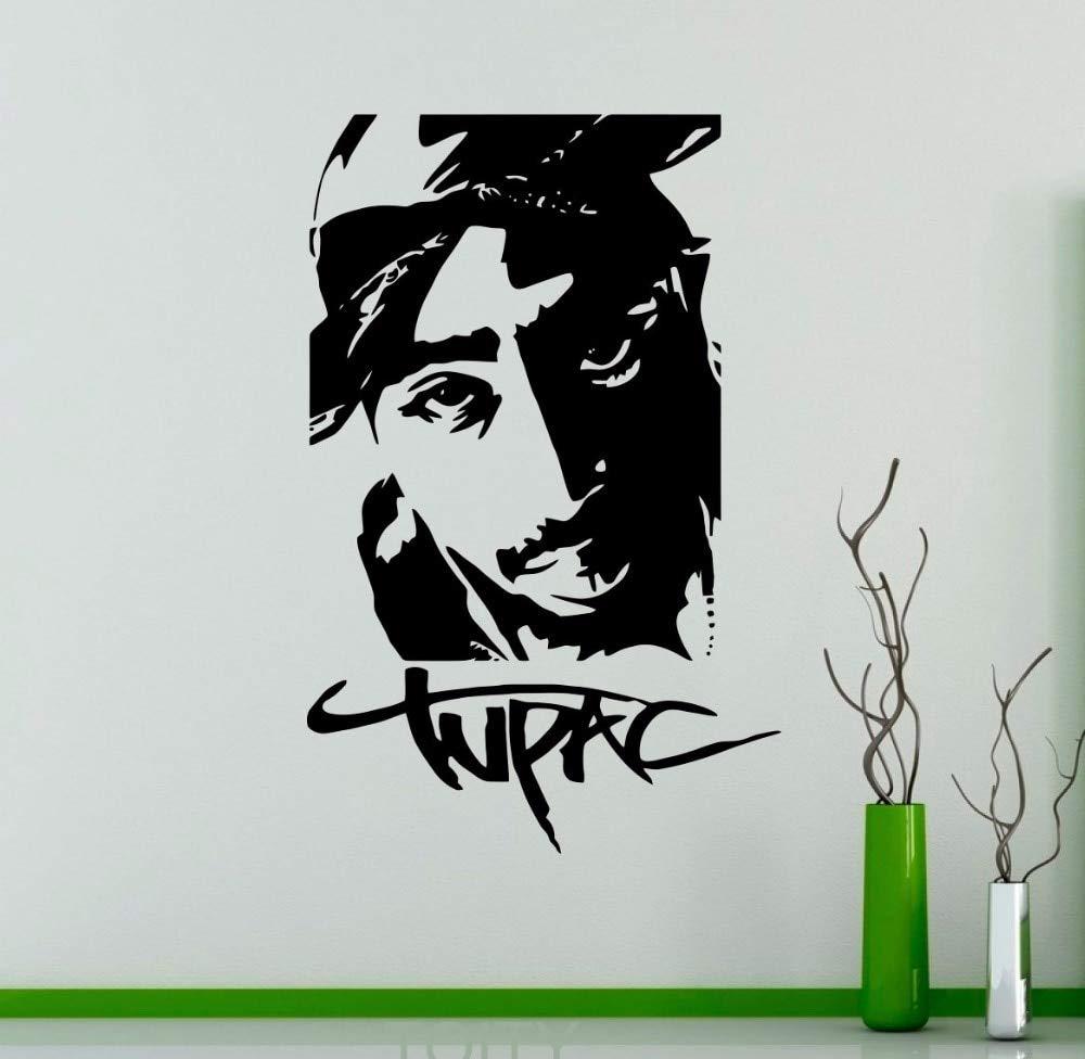 Tupac 2PAC Etiqueta de vinilo Rap Hip Hop Música Tatuajes de pared ...