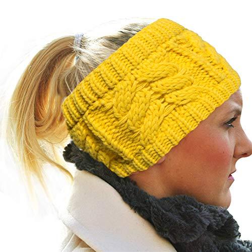 (Fasker Womens Knit Confetti Cable Headband Crochet Twist Head Wrap Ear)