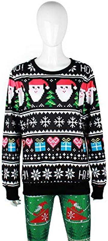 Ning Night Langarm Knit-Gewellter Pullover Rundhalsausschnitt-Lose Pullover Top Weihnachten Męskie Pullover Pullover Sweatshirt Für Herbst Und Winter,B,S: Sport & Freizeit