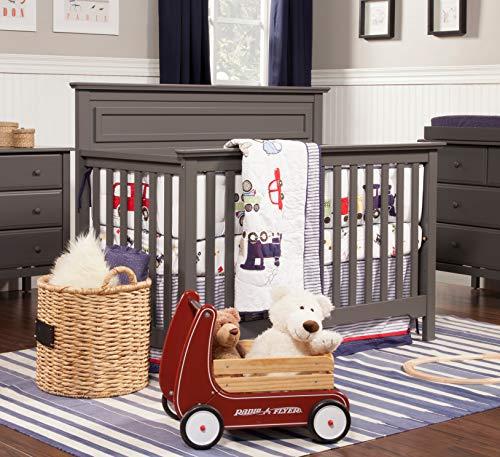 51tw93PXLPL - DaVinci Autumn 4-in-1 Convertible Crib In Slate, Greenguard Gold Certified