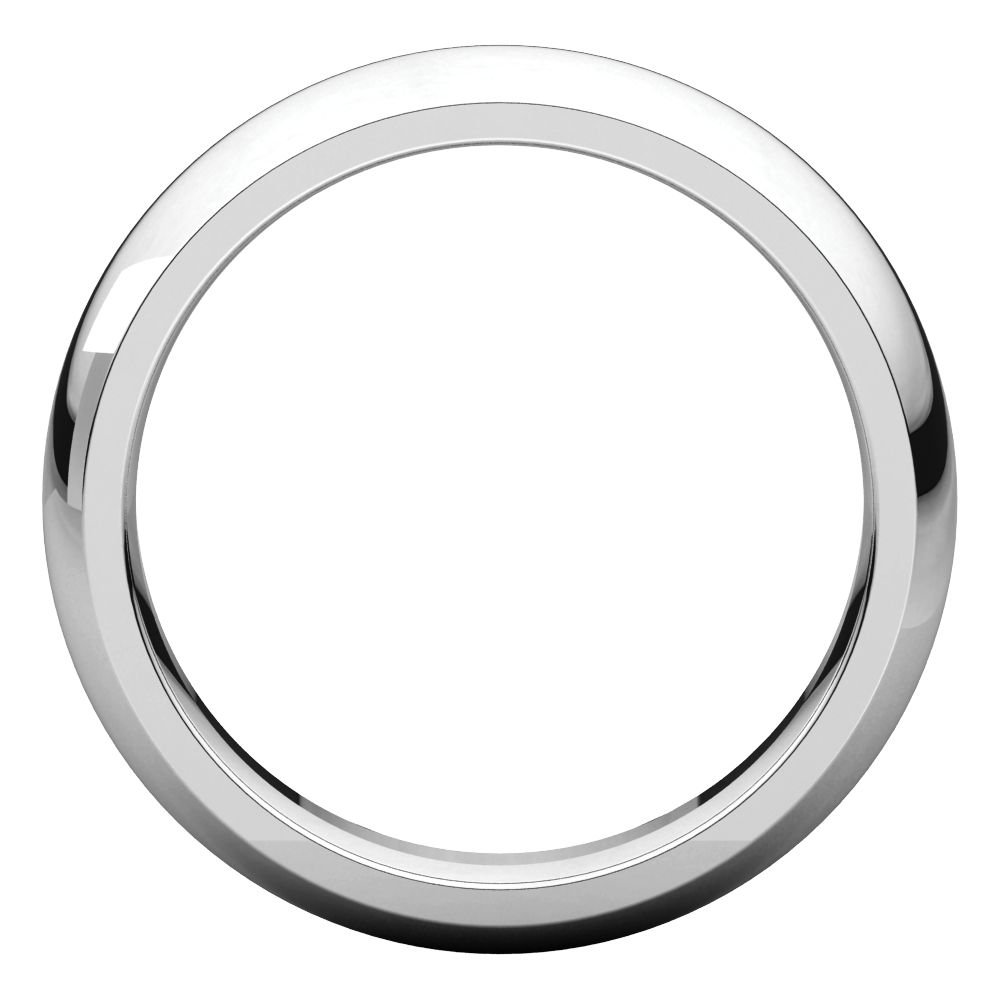 14k White Gold 1.5mm Comfort Fit Band Ring Size 9 14kt White gold