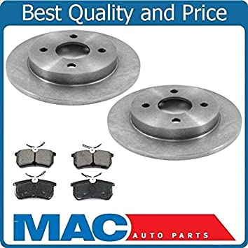 OE Replacement 2000 2001 2002 Ford Focus Non SVT Rotors Ceramic Pads R