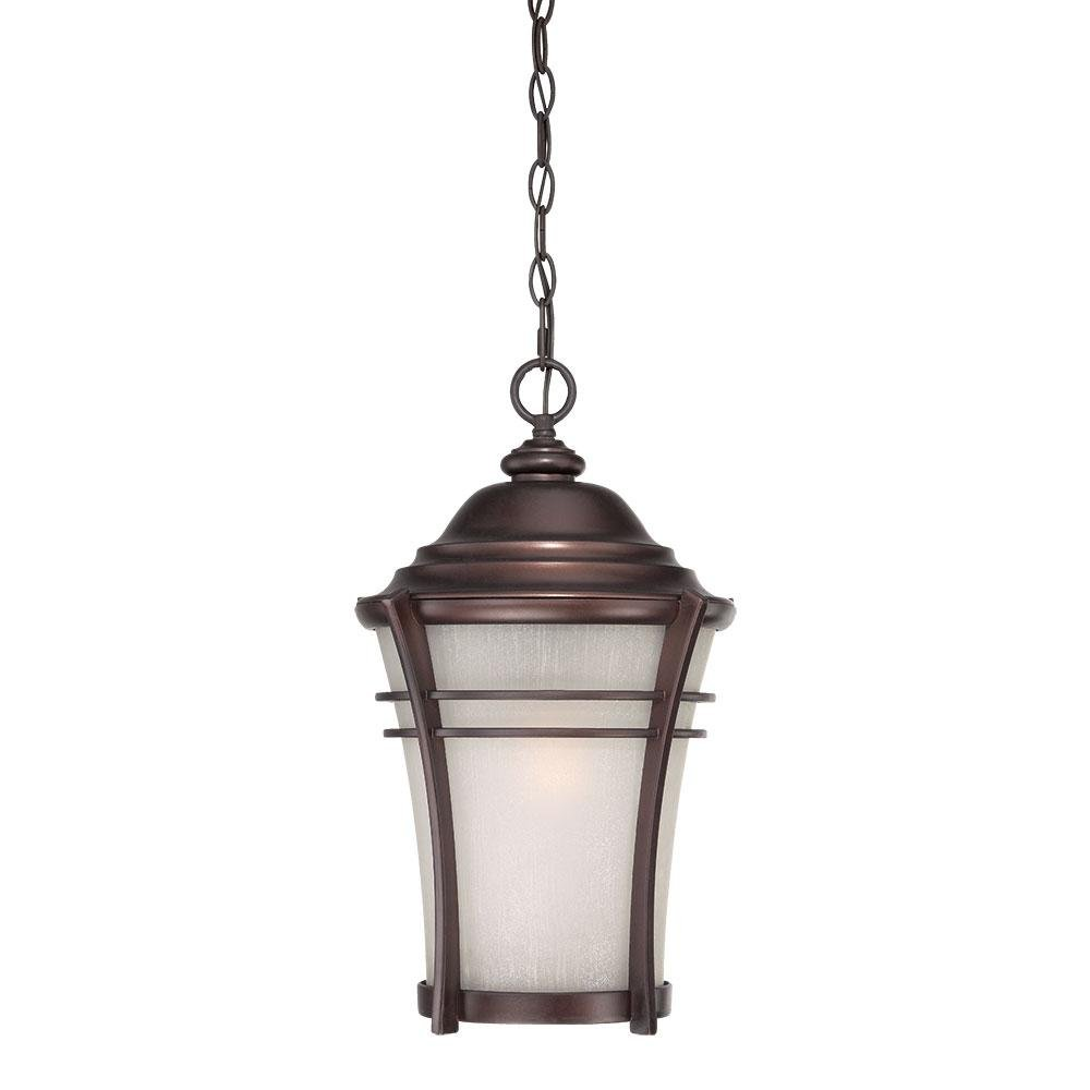 Vero Collection Hanging Lantern 1-Light Outdoor Architectural Bronze Light Fixtu Model-39626ABZ