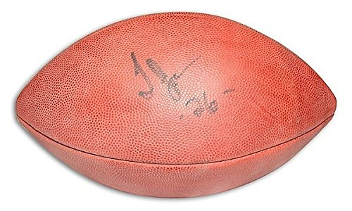 Nfl Jones Football Thomas (Autographed Thomas Jones NFL Football - Certified Authentic Signature)