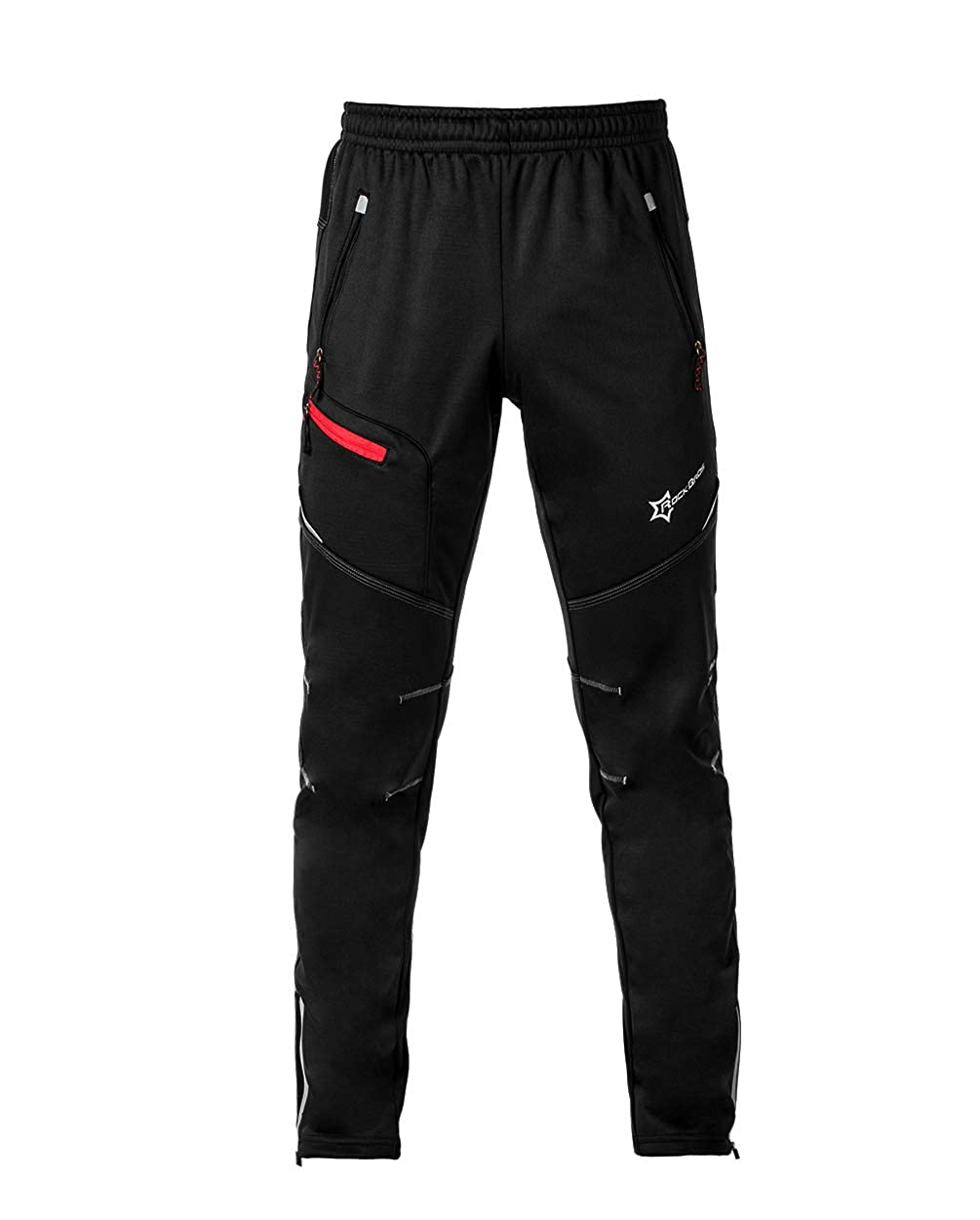 ROCK BROS Winter Cycling Pants for Men Thermal Fleece Windproof Bike Pants Running Biking Hiking